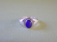 Vintage Lapis Lazuli Sterling Silver Unisex by EternalElementsEtsy