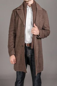 Herringbone Coat w. Bib
