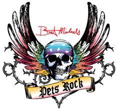Bret Michaels Pets Rock Collection at Petsmart