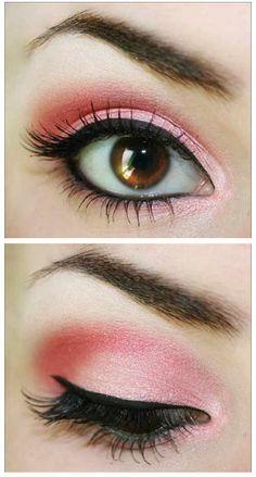 Ojos sombra Rosado sencillo