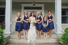 Navy #bridesmaids dresses for summer | Paul Rowland Photography