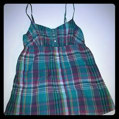 Final markdown: Maurices top Multicolor plaid top. 100% cotton. Machine washable. Maurices Tops Tank Tops
