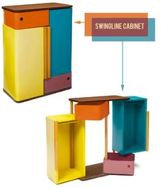 very rare vin­tage mod­ern children's fur­ni­ture designed by Henry Glass in the 1950s. Made from molded ply­wood and masonite, Glass designed the pieces as part of the Swing­line Group of children's fur­ni­ture for the Fer­n­wood Fur­ni­ture Com­pany in Chicago.