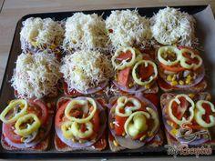 Recept Szendvicskenyér pizza