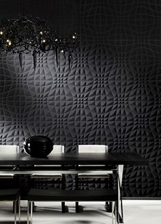 Eclipse - Designer Wall papers by Arte ✓ Comprehensive product & design information ✓ Catalogs ➜ Get inspired now Wallpaper Online, Home Wallpaper, Arte Wallcovering, Black And White Wallpaper, Black White, Contemporary Wallpaper, Decorative Panels, Deco Design, Texture
