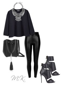 """{THEDARK} #3"" by thenew-m ❤ liked on Polyvore featuring River Island, Giuseppe Zanotti, La Garçonne Moderne and Yves Saint Laurent"