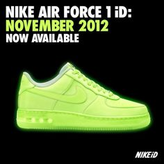 glow in the dark NIKES | May the glow in the dark Air Force 1 Hi and Low be with you.