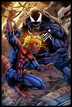 Spidey VS Venom - colors by ZethKeeper.deviantart.com on @DeviantArt