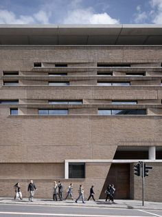 Pictures - Chethams School of Music - View of outreach centre with chamfered windows in brick precast panels - Architizer