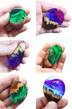 If you have to choose … Galaxy or Aurora Borealis? Unique jewelry by WoodAll… If you have to choose … Galaxy or Aurora Borealis? Unique jewelry by WoodAllGood. Diy Resin Art, Epoxy Resin Art, Diy Resin Crafts, Wood Resin, Diy Jewelry Unique, Diy Jewelry To Sell, Jewelry Crafts, Handmade Jewelry, Jewelry Ideas