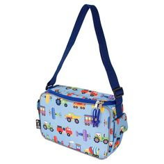 Wildkin Olive Kids Trains, Planes and Trucks Keep It Cooler Lunch Box - Kids, Multicolor
