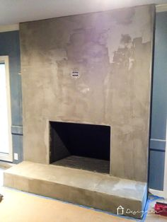 Diy Concrete Fireplace For Less Than 100