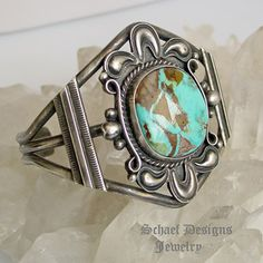 Dean Sandoval Royston Turqoise & Sterling Silver cuff bracelet  | Schaef Designs | New Mexico