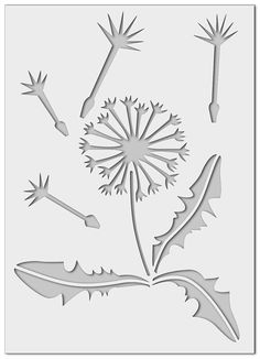 Wall stencil flower 0236