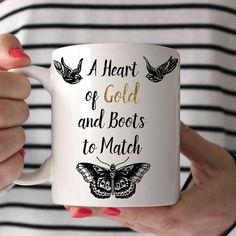Tazza di caffè Harry Styles un cuore d'oro e stivali per