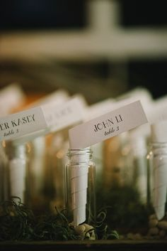 message in a bottle - woodland wedding inspiration