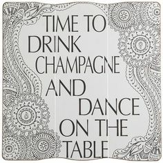 Drink Champagne Wall Decor