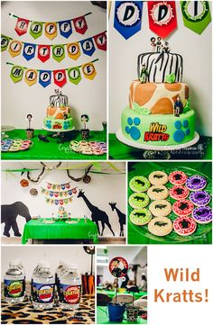 Wild Kratts 7th Birthday Party | Spring Hill, TN Photographer.  Adorable themed birthday party great for the Animal Lover.  Includes decoration, food, games and entertainment ideas.