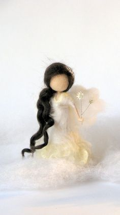 Christmas natural table home decor. Little fairy, angel not only for Christmas. Winter fairy, needle felted Waldorf inspired Size about 5.5, 14 cm Price for one angel Christmas angel Christmas fairy ornament Needle felted fairy Waldorf inspired doll Woolen Home decor Thank you for