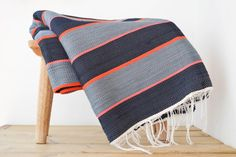 Large Woven Cotton Rug by MakanaHome on Etsy
