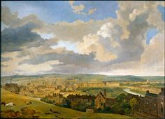 Panorama of Bath by J.W. Allen in 1833. The view is from Beechen Cliff, on the southern side of the city (notable landmarks: The Abbey is in the centre, and the Royal Crescent can be seen in the far left)