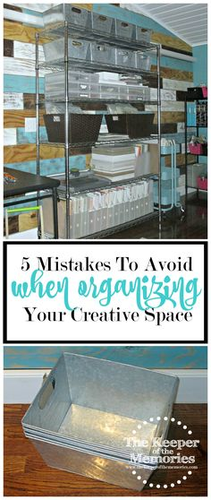 We all make mistakes when it comes to our creative spaces. Some of us just happen to make more than others. I& definitely made my fair share of them over the years. I love to shop and I love to organize, which always seems to get me into trouble. Scrapbook Organization, Sewing Room Organization, Craft Room Storage, Organization Hacks, Craft Rooms, Storage Ideas, Paper Storage, Craft Room Organizing, Craft Room Signs