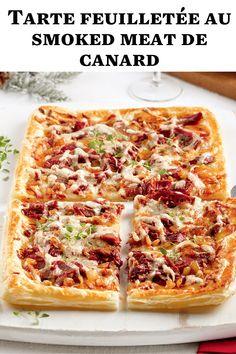 Une tarte feuilletée à faire à l'avance et à congeler? Oui, c'est possible, et c'est super facile! Parfait pour enlever un stress pendant le temps des Fêtes! Smoking Meat, Oui, Hawaiian Pizza, Parfait, Stress, Home Made Pizza, Lift Off, Side Dishes, Dish