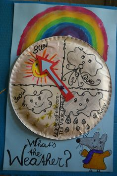 Make a weather wheel out of a Paper Plate. Simple, easy and creates interactive learning.