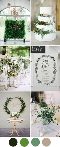 Save the date Pantone's colour of the year Greenery brings us back to nature and celebrates new beginnings - here's how to use it in your wedding decor.