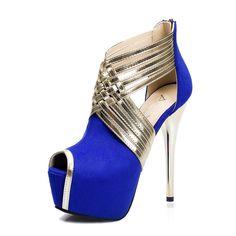 Size 34-39 European style Stiletto sexy metal women high heels Red Bottom High Heels Women's Shoes Wedding Party Women Pumps