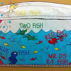 Dr. Seuss bulletin board for back to school!