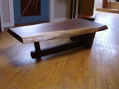 Custom Live Edge Coffee Table by Peter Lawrence Woodworkers | CustomMade.com