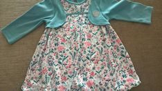 GEORGE BABY GIRLS DUCK EGG BLUE FLORAL FLORAL BUBBLE DRESS BNWT 3-6 M #George Red Floral Dress, Floral Shorts, Pinny Dress, White Short Sleeve Tops, Duck Egg Blue, Grey Jeans, Tops For Leggings, Outfits With Hats, Tight Dresses