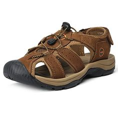 86383efd0ad4 cool Kunsto Men s Leather Fisherman Sandals Flats Shoes Hiking Sandals