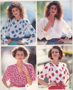 Pullover Mock Wrap Blouse Butterick Pattern 3364 Misses' Size 18-22 UNCUT - Women