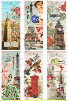 Bügelbild Skyline Paris Mailand New York 1346 von Doreen`s Bastelstube - Kreativ & Außergewöhnlich auf DaWanda.com
