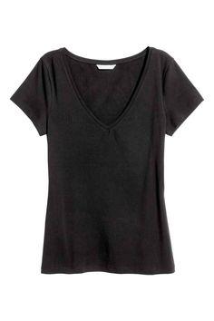 T-shirt con scollo a V | H&M