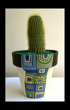 Idea Of Making Plant Pots At Home // Flower Pots From Cement Marbles // Home Decoration Ideas – Top Soop Painted Plant Pots, Painted Flower Pots, Flower Pot Crafts, Clay Pot Crafts, Pot Jardin, Pot Plante, Posca, Pottery Painting, Terracotta Pots