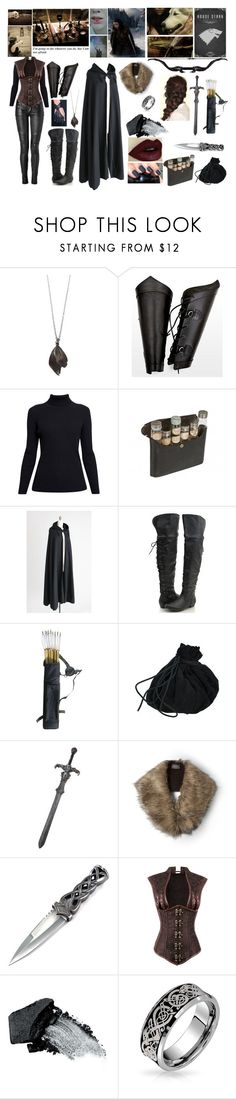 """""""Games of Thrones-Stark"""" by kereneza ❤ liked on Polyvore featuring Aurum By Gudbjorg, Rumour London, Balmain, Wooden Ships, Disney, Gorgeous Cosmetics and Bling Jewelry"""