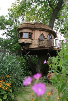 The Blue Forest Treehouse at Amberley Castle in West Sussex, England (by BlueForest).