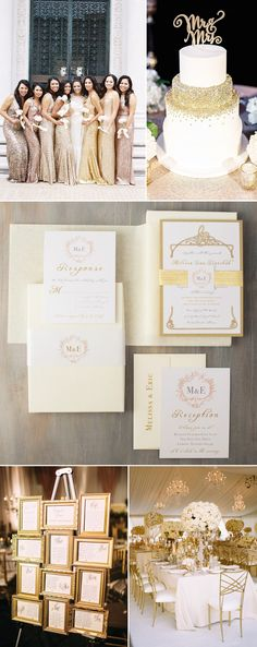 Bride to Be Reading ~ All that Glitters is Pretty! Gold and Ivory Wedding Inspiration
