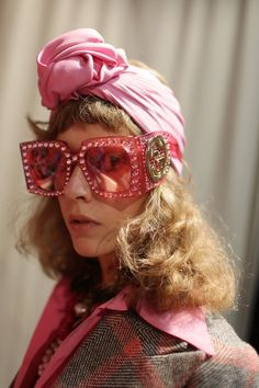 Gucci Retro Funky Pink 70s big studded sunglasses