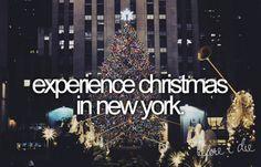 bucket list: christmas in nyc