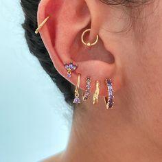 Earrings - Dosaes Jewelry Tattoo, Ear Jewelry, Cute Jewelry, Jewelery, Jewelry Accessories, Pretty Ear Piercings, Ear Peircings, Accesorios Casual, Stylish Jewelry