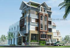 mẫu nhà lô phố 5 tầng với đa màu sắc đẹp http://kientrucnhapho.com.vn/nha-pho-dep/