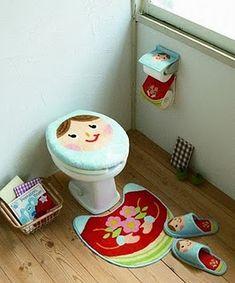 Moldes Para Artesanato em Tecido: Jogo de Banheiro Matrioska com molde