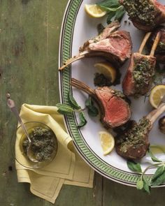 """See the """"Rack of Lamb with Mint and Capers"""" in our  gallery"""