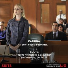 I hated her so much to begin with, kinda like I initially hated Louis lol but the Louis-Katrina team is now one of my favourite things! #Suits