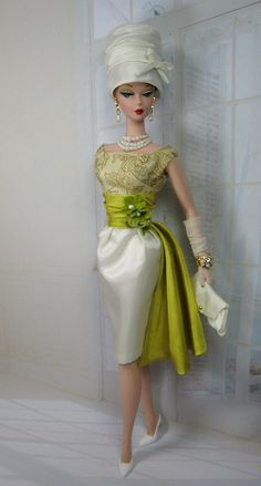 Millésime for Silkstone Barbie and Victoire Roux on Etsy now...lovely green outfit, classy