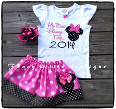 Hey, I found this really awesome Etsy listing at https://www.etsy.com/listing/201609783/minnie-first-trip-to-disney-outfit